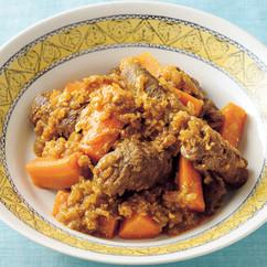 牛肉ロールのカレーヨーグルト煮