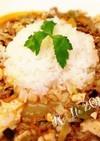 生姜たっぷり♪野菜のコクうまスープ麻婆丼