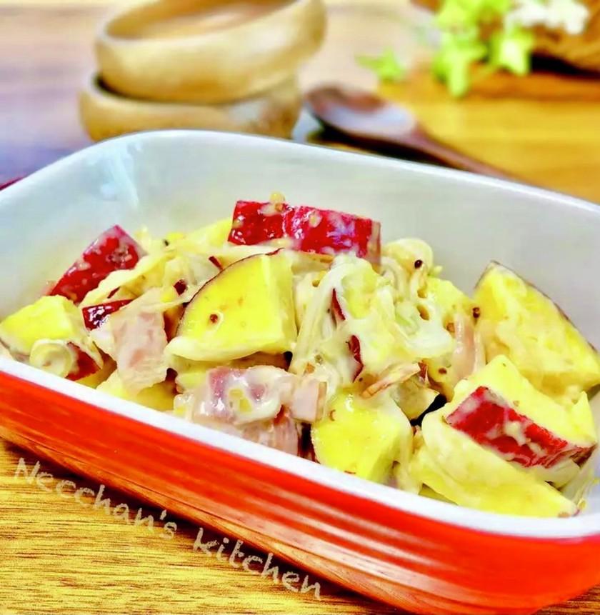 デリ風♡さつま芋のハニーマスタードサラダ