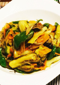 ご飯もお酒もすすむ 野菜の味噌豆板醤炒め