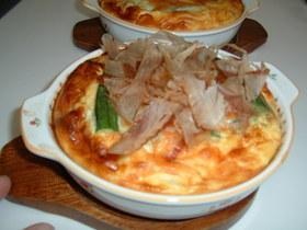 豆腐とオクラの和風グラタン