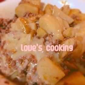 挽肉の簡単料理!デミグラス風ジャガチーズ