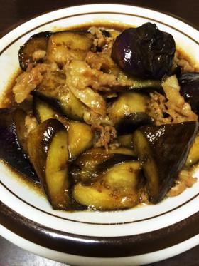 夜御飯*豚バラと茄子の甘辛煮