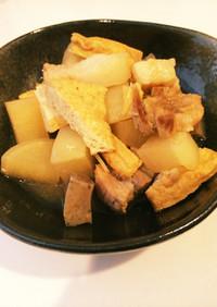 豚バラ大根とこんにゃく厚揚げ味噌煮込み♡