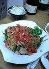 チキンの香草パン粉焼きトマトソース