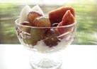 フルーツのせのせデザート。