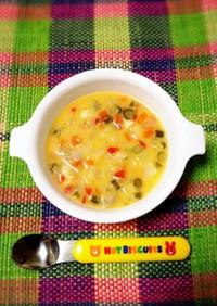 離乳食完了期♡具沢山クリームスープ