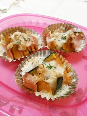 お弁当に♪簡単☆かぼちゃのチーズ焼き