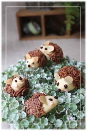 かわいい♥はりねずみココナッツクッキー