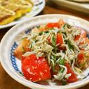 トマトとしらすの簡単サラダ