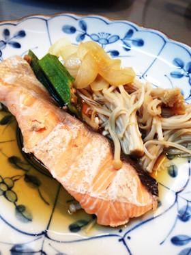鮭と野菜の蒸焼き【シリコンスチーマー】
