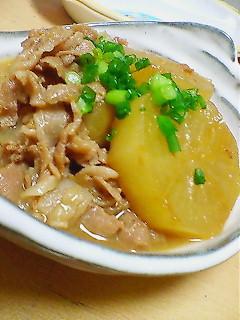 豚と大根の味噌煮込み