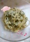豆腐と海苔の佃煮パスタ