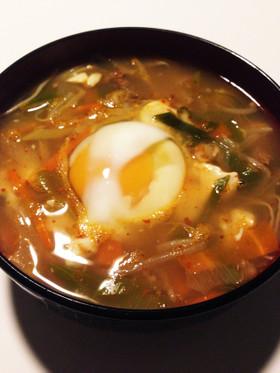 辛うま♡具だくさん韓国スープ