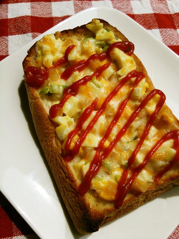 沢庵deカレー風味タルタルチーズトースト