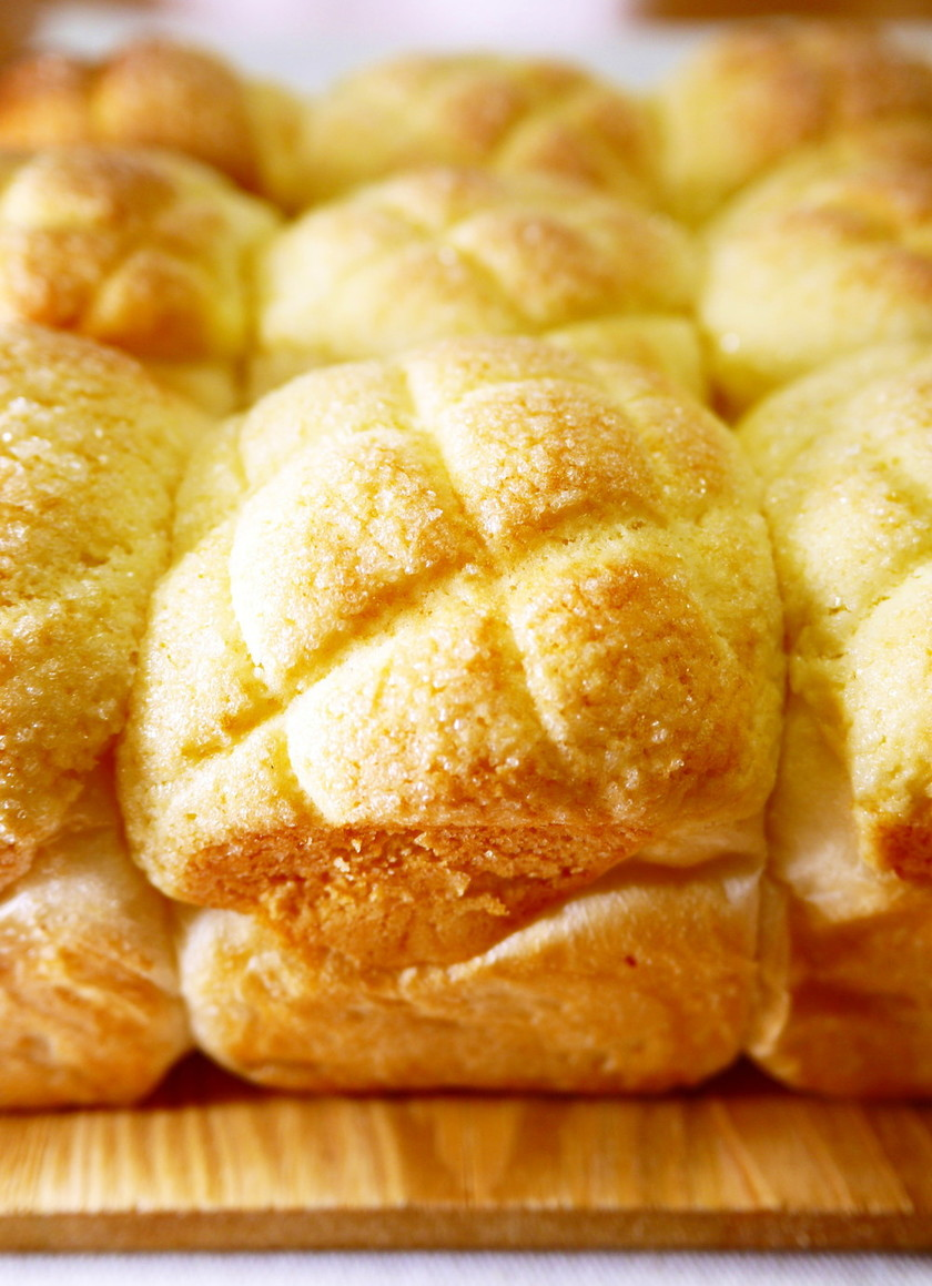 HB*おやつメロンパン♪メロンちぎりパン