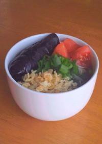 茄子の揚げびたし素麺