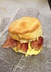 簡単朝食♡アメリカマック風サンドウイッチ