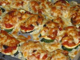 ズッキーニの一口ピザ