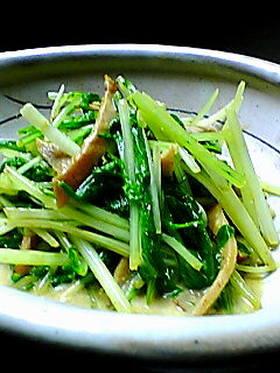 簡単もう1品☆みず菜とハムのカレー炒め