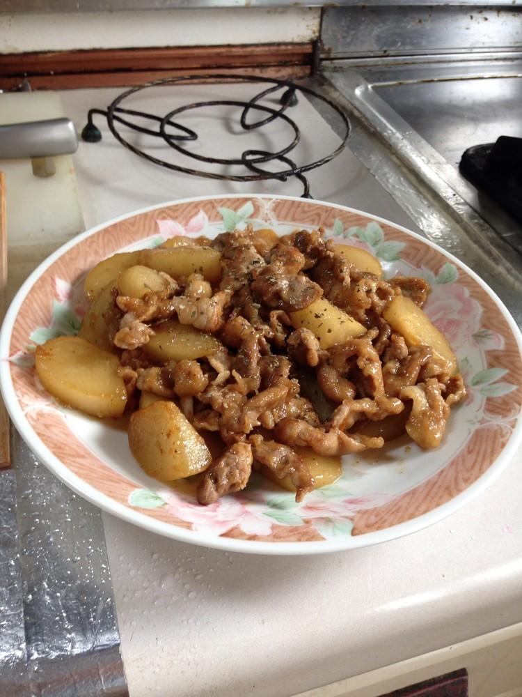 鉄腕ダッシュで紹介!豚肉と梨の炒め物