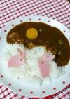 カレーでお月見ウサギ☆キャラ弁にも☆