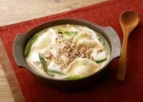 豆乳入り担々風スープ