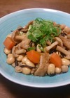 ブナピーと大豆のほっこり五目煮
