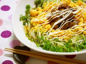 焼鳥缶deぶっかけ(てりたまマヨ)素麺
