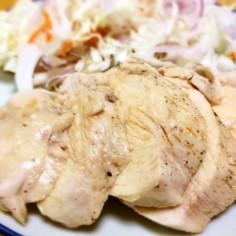 鶏むね肉のジプロック茹で