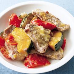 豚ロースと野菜のグリルマリネ