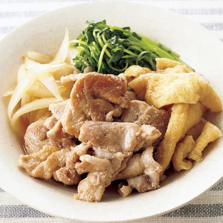 豚肉と豆苗のすき煮風