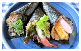 にんじんドレッシングの手巻き寿司