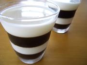 ミルクとコーヒーのしましまゼリーの写真