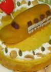 とっても簡単♪新幹線ケーキ
