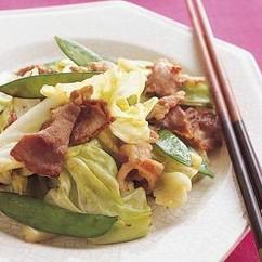 キャベツと豚肉の炒め物