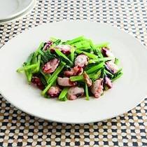 小松菜とたこのにんにく炒め