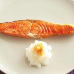 塩鮭(ざけ)のフライパン焼き
