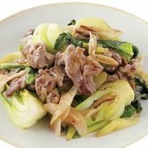 チンゲンサイと豚肉の炒め物