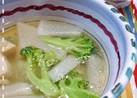 ささみと大根のオリーブオイルのスープ