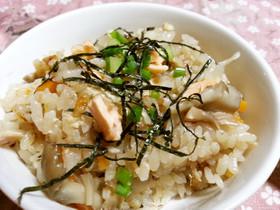 秋鮭とキノコの炊き込み御飯