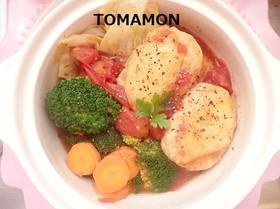 お野菜たっぷり食べるスープ✿ハンバーグ
