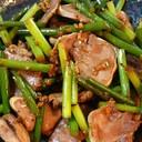 簡単つまみ●牛タンとにんにく芽の炒め