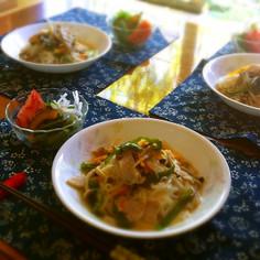 お野菜たっぷり☆簡単あったかスープ素麺