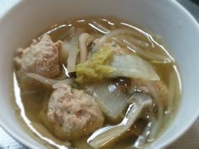 鶏だんごのスープ