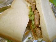 テリヤキバーガー風 絶品 照り焼きサンドの写真