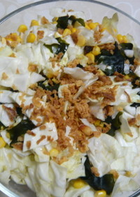 キャベツとわかめのサラダ