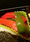 パプリカとピーマンの寿司酢漬け♪