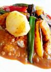 挽き肉の焼き野菜カレー