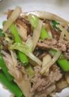 牛肉と白菜のすき焼き風炒め